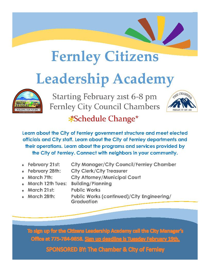 revised 2019 Citizens Academy flyer