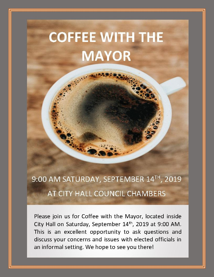 Coffee with the Mayor 09.14.2019