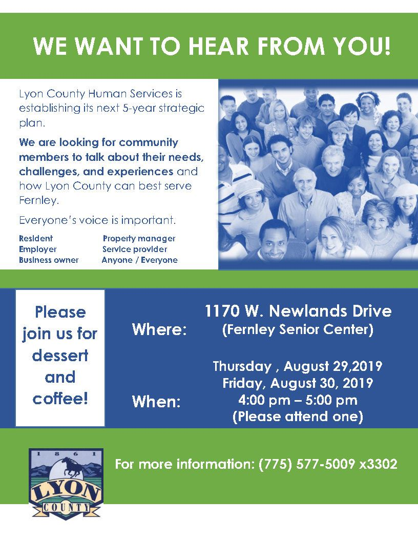Lyon County Human Services Focus Group Fernley