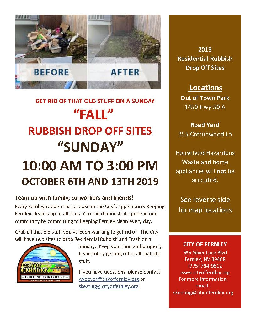 2019 Fall Residential Rubbish Collection Flyer_Page1
