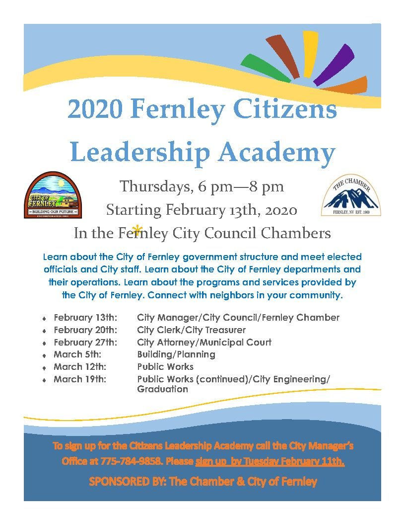 2020 Citizens Academy flyer