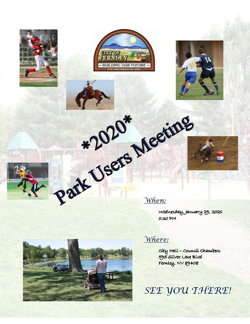 Park Users Meeting Flyer