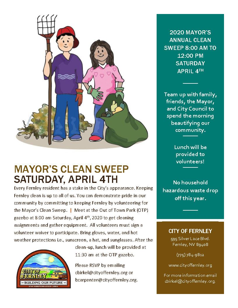 2020 Mayor Clean Sweep flyer