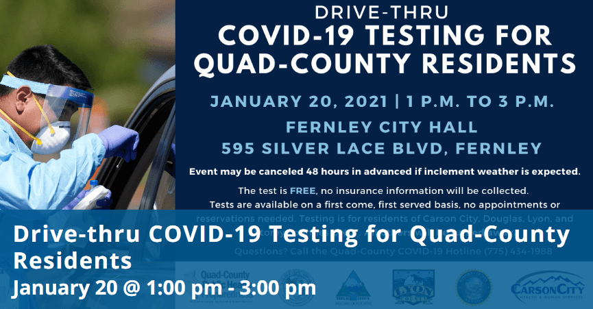 COVID19 Testing for Quad County January 2021